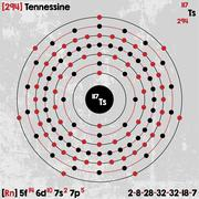 Element of Tennessine Stock Illustration