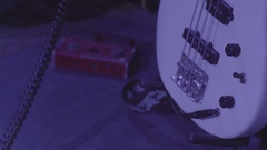 White Electronic music guitar Stock Footage