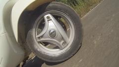 Goa wheel vespa Stock Footage