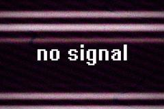 No signal, television broadcast glitch Stock Illustration