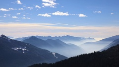 Mountain landscape of Dolomite Alps Stock Footage