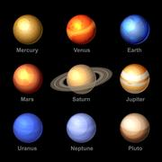 Planets of Solar System Icons. Vector. Piirros