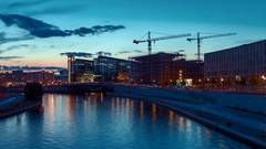 Spree River Timelapse at Berlin Stock Footage