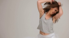 Young dancing girl Stock Footage