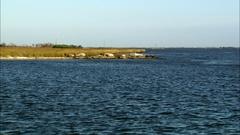 Static cemetary coastal erosion Stock Footage