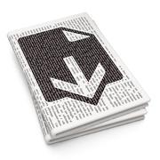 Web design concept: Download on Newspaper background Stock Illustration