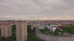Aerial city shot 4k Stock Footage