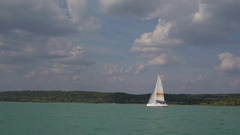 Yacht race onboard Stock Footage