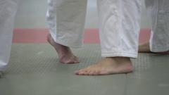 Judo leg attack Stock Footage