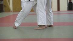 Judo throw attempt Stock Footage