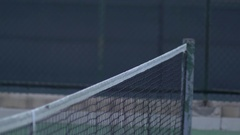 Tennis players shaking hands after match. Stock Footage