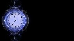 Clock in Fibers Ring Animation Stock Footage