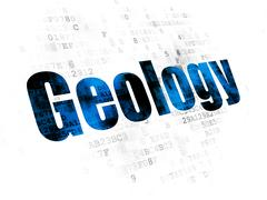 Science concept: Geology on Digital background Stock Illustration