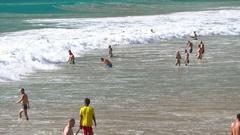 Waves on Nai Harn beach Stock Footage