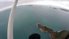 Scenic flight over Whitsunday Islands Stock Footage