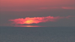 Florida Sunrise timlapse on the coast of the Gulf of Mexico Stock Footage