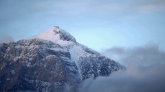 Fast moving clouds over highest mountain Tahtali in Antalya region, Turkey Stock Footage