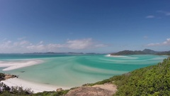 Pristine Whitsunday Hill Inlet Whitehaven beach Stock Footage