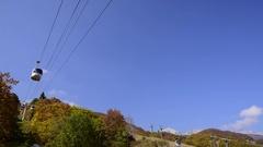 Ropeway in Hakuba, Nagano Prefecture, Japan Stock Footage