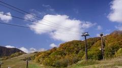 Ropeway at Mount Yarigatake, Nagano Prefecture, Japan Stock Footage