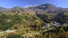 Mount Naeba, Nagano Prefecture, Japan Stock Footage