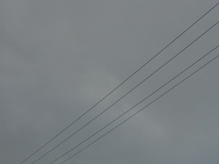 Driving shot of power lines and electrical grid Stock Footage