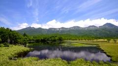 Lake Shiretoko, Hokkaido, Japan Stock Footage