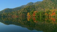 Yunoko Lake, Tochigi Prefecture, Japan Stock Footage