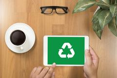 Recycle Green bio eco forest saving environment harmony ecosystem conservat.. Stock Photos