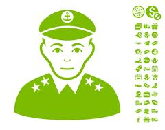 Military Captain Icon With Free Bonus Stock Illustration