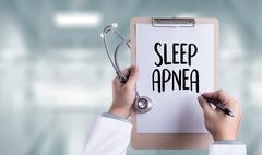 Sleep apnea using CPAP , machine SLEEP APNEA  , Diagnosis Sleep apnea , SLE.. Stock Photos