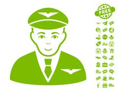 Pilot Icon With Free Bonus Stock Illustration