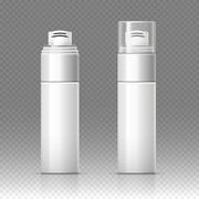 Shaving foam cosmetic bottle sprayer container vector illustration Stock Illustration