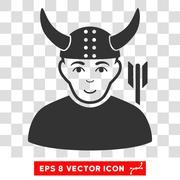 Horned Warrior Vector EPS Icon Stock Illustration