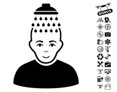 Head Shower Icon With Copter Tools Bonus Piirros