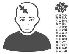 Head Hurt Vector Icon With Tools Bonus Stock Illustration