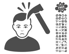 Murder With Hammer Vector Icon With Tools Bonus Piirros