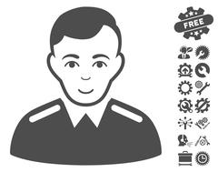 Officer Vector Icon With Tools Bonus Stock Illustration