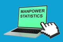 Manpower Statistics concept Stock Illustration