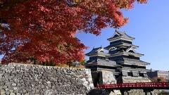 Matsumoto Castle, Nagano Prefecture, Japan Stock Footage