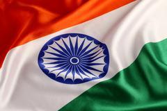 Tricolor Indian National Flag - Closeup Kuvituskuvat