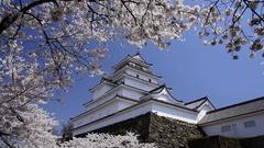 Tsuruga Castle, Fukushima Prefecture, Japan Stock Footage