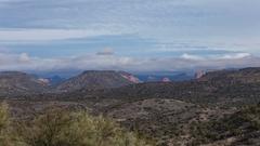 Looking towards Sedona Arizona overcast time lapse wide Stock Footage