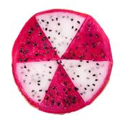 Concept radioactive of slice red and white dragon fruit, Pitaya or Cactus i.. Stock Photos