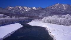 Sorachi River, Hokkaido, Japan Stock Footage