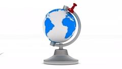 Globe on white background. Isolated 3D image Stock Footage