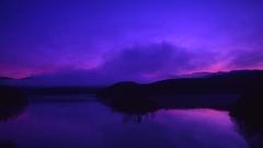 Dawn at Akigawa Dam, Gifu Prefecture, Japan Stock Footage