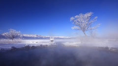 Lake Kussharo, Hokkaido, Japan Stock Footage