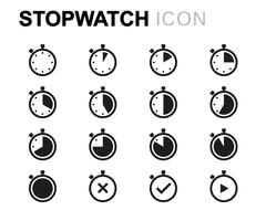 Vector line stopwatch icons set Piirros