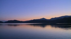Peaceful lake surface, Japan Stock Footage